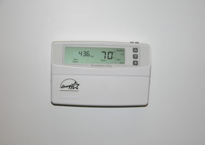 A thermostat that controls a climate control self-storage unit in North Canton, OH