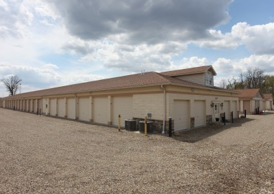 A self-storage unit at Greensburg Park Self-Storage in Green, OH